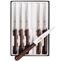 Victorinox Forschner 46003 Rosewood 4 3/4 inch Serrated Steak Knife Set - 6 / Set