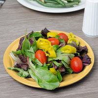 Carlisle 3300622 Sierrus 7 1/4 inch Honey Yellow Narrow Rim Melamine Salad Plate - 48/Case