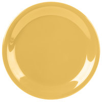 Carlisle 3300622 Sierrus 7 1/4 inch Honey Yellow Narrow Rim Melamine Salad Plate - 48/Case