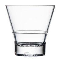 Thunder Group PLTHRG210C 10 oz. Plastic Tapered Rocks Glass