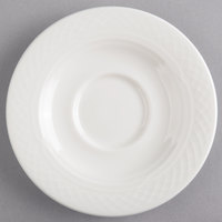 Homer Laughlin by Steelite International HL8846900 Kensington Ameriwhite 5 5/8 inch Bright White China Saucer - 36/Case