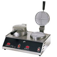Star SWB7R2E Double Round Waffle Iron 7 inch
