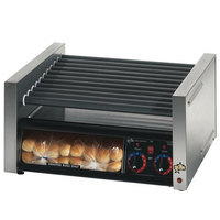 Star Grill Max 30SCBBC 30 Hot Dog Roller Grill with Duratec Non-Stick Rollers and Bun Drawer with Clear Door
