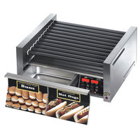 Star Grill Max 30SCBD 30 Hot Dog Roller Grill with Duratec Non-Stick Rollers and Bun Drawer