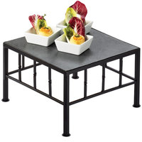 Cal-Mil 1711-7-65 Iron Black Square Riser with Slate Top - 12 inch x 7 inch