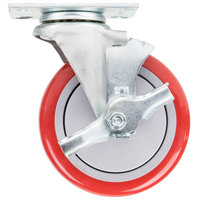 5 inch Swivel Plate Caster with Brake for Winholt Holding/Proofing Cabinets