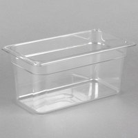 Carlisle 3066207 StorPlus 1/3 Size Clear Polycarbonate Food Pan - 6 inch Deep