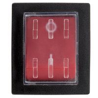 Avantco 17810365 Red Replacement On / Off Switch - New Style