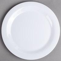 Carlisle 3300202 Sierrus 10 1/2 inch White Narrow Rim Melamine Plate - 12/Case
