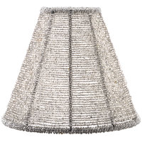 Sterno Products 85430 Silver Beaded Lamp Shade