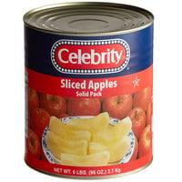 Celebrity #10 Can Sliced Solid Pack Apples   - 6/Case