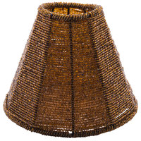 Sterno Products 85428 Amber Beaded Lamp Shade