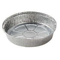 """9"""" Round Foil Take Out Pan Standard Weight - 500/Case"""