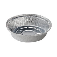 7 inch Round Foil Take Out Pan Standard Weight - 500/Case