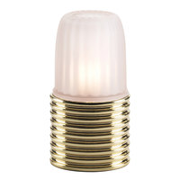 Sterno Products 85210 Ribbed Brass Lamp Base