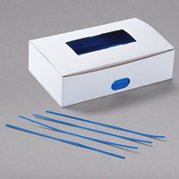 Bedford Industries Inc. 7 inch Blue Paper Bag Ties - 2000/Box