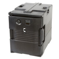 Cambro UPCH400110 Ultra Pan Carrier® Black Electric Hot Food Holding Cabinet in Fahrenheit - 110V
