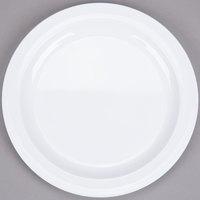 Nustone White Melamine Plate 8 inch - 12/Case