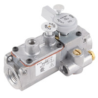 Anets P8903-96 Equivalent Manifold Gas Valve; Natural Gas / Liquid Propane; 3/8 inch Gas In / Out; 1/4 inch Pilot In / Out