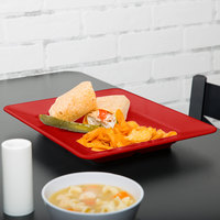 GET ML-11-RSP Red Sensation 12 inch x 10 inch Rectangular Deep Plate - 12/Case