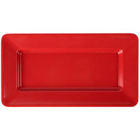 GET ML-10-RSP Red Sensation 15 inch x 8 inch Rectangular Deep Plate - 12/Case