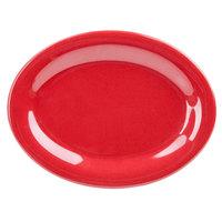 GET OP-950-RSP Red Sensation 9 3/4 inch x 7 1/4 inch Oval Platter - 24/Case