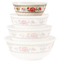 GET M-606-CG Garden 24 oz. Melamine Fluted Bowl - 12/Case