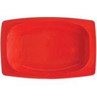 GET OP-118-RSP Red Sensation 12 1/4 inch x 8 inch Oval Platter - 12/Case