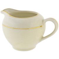 10 Strawberry Street CGLD0016 8 oz. Cream Double Gold Line Creamer - 6/Case