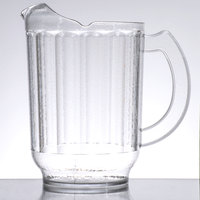 Cambro PL60CW135 Camwear 60 oz. Clear Customizable Laguna Plastic Pitcher
