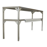 Delfield AS000DAQS-003Q Stainless Steel Double Overshelf - 27 inch x 16 inch