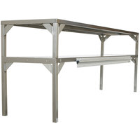 Delfield AS000-B3P-DT7 Stainless Steel Double Overshelf - 32 inch x 16 inch