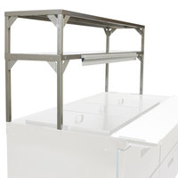 Delfield Stainless Steel Double Overshelf - 72 inch x 16 inch
