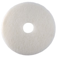 Scrubble by ACS 41-6 1/2 Type 41 6 1/2 inch White Polishing Floor Pad - 10/Case