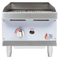Cooking Performance Group CBR15 15 inch Gas Radiant Charbroiler - 40,000 BTU