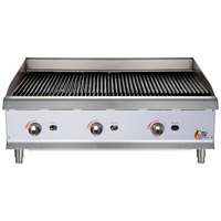 "Cooking Performance Group CBL36 36"" Gas Lava Rock Charbroiler - 120,000 BTU"