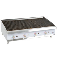 Cooking Performance Group CBR48 48 inch Gas Countertop Radiant Charbroiler - 160,000 BTU