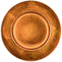 10 Strawberry Street ANT-340CPR 13 inch Metallic Copper Glass Charger Plate