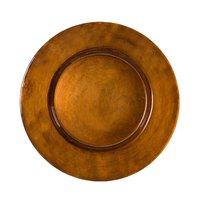 10 Strawberry Street ANT-340-CPR 13 inch Metallic Copper Glass Charger Plate