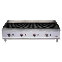 "Cooking Performance Group CBL48 48"" Gas Lava Rock Charbroiler - 160,000 BTU"