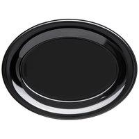 Carlisle 4308603 Durus 9 1/2 inch Black Oval Melamine Platter - 24/Case