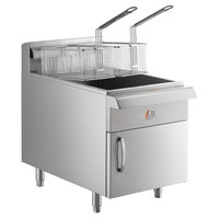 Cooking Performance Group CF30 Natural Gas 30 lb. Countertop Fryer - 53,000 BTU