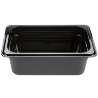 Carlisle 3088103 StorPlus 1/4 Size Black High Heat Food Pan - 4 inch Deep