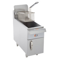 Cooking Performance Group CF15 Natural Gas 15 lb. Countertop Fryer - 26,500 BTU