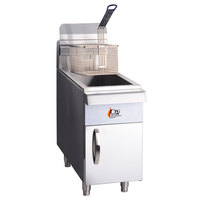Cooking Performance Group CF15 15 lb. Gas Countertop Fryer - 26,500 BTU