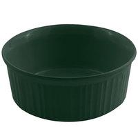 Bon Chef 5054 2.5 Qt. Sandstone Hunter Green Cast Aluminum Round Casserole Dish