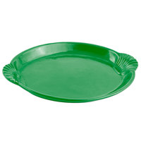 Bon Chef 2073 20 inch x 14 inch Calypso Green Sandstone Finish Cast Aluminum Shell and Fish Platter