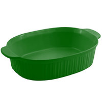 Bon Chef 5055 4 Qt. Sandstone Calypso Green Cast Aluminum Oval Casserole Dish