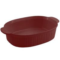 Bon Chef 5055 4 Qt. Sandstone Terra Cotta Cast Aluminum Oval Casserole Dish