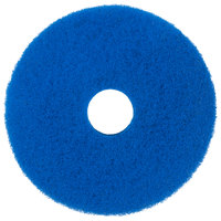 Scrubble by ACS 53-15 Type 53 15 inch Blue Cleaning Floor Pad - 5/Case